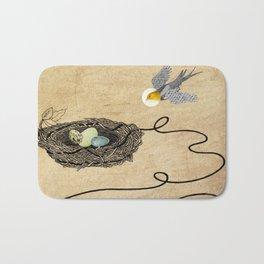 Bird's Winged Flight Bath Mat