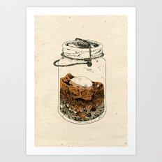 Inside the Mason Jar Art Print