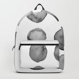 Gray watercolor circles  Backpack