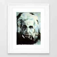 einstein Framed Art Prints featuring Einstein by Olivia Potts Art
