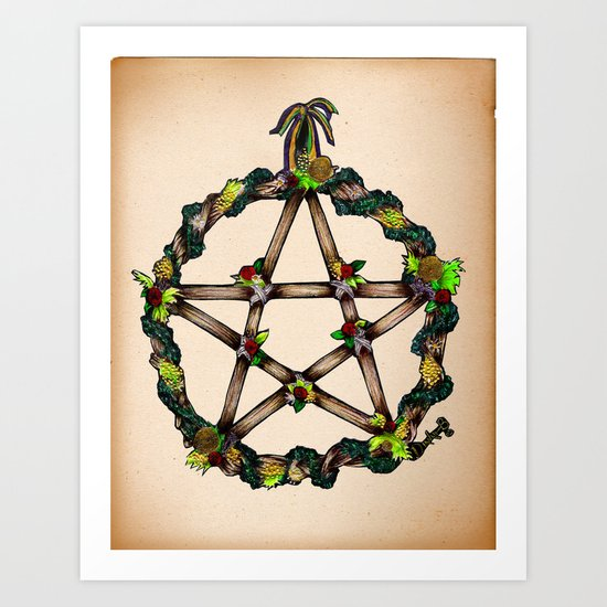 PENTAGRAM GARLAND Art Print