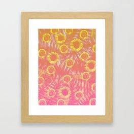 Sunflower Party #4 Framed Art Print