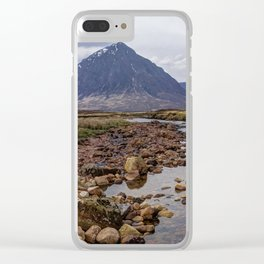 Glencoe the Scottish mountains Clear iPhone Case