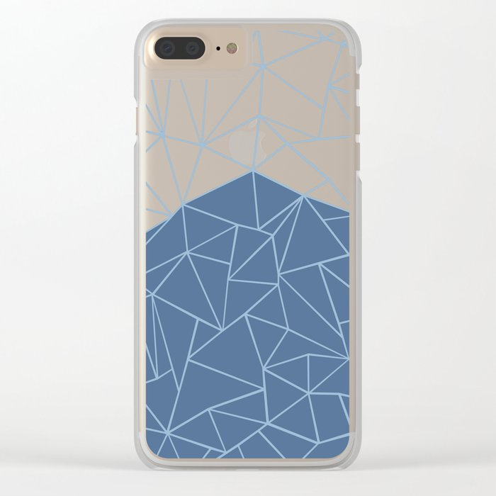 Ab Outline Blues Clear iPhone Case