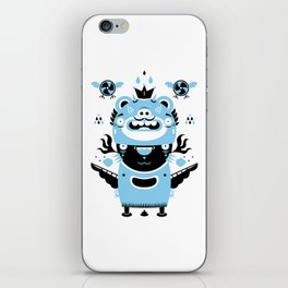 Blue and black totem fun iPhone Skin