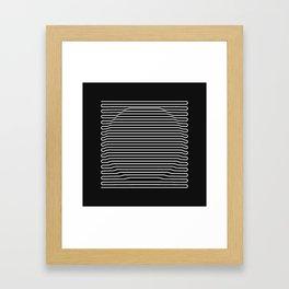 Circle over black Framed Art Print