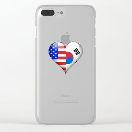 Half American Half South Korean Clear iPhone Case