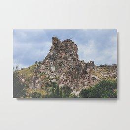 The castle of Uchisar in Cappadocia Metal Print