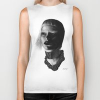versace Biker Tanks featuring Versace InSanity. by BrittanyJanet Illustration & Photography