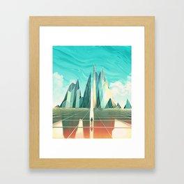 Emerald Fields Framed Art Print