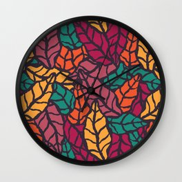 Nature leaves 005 Wall Clock