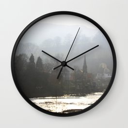 Town on the Valley Wall Clock