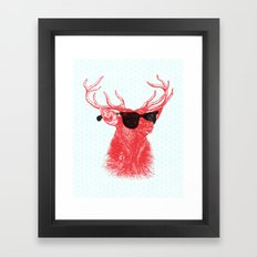 Young Buck. Framed Art Print