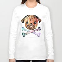 pug Long Sleeve T-shirts featuring pug by Manoou