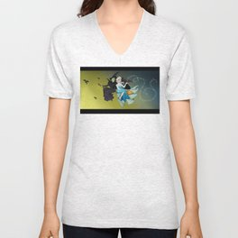 Defying Gravity and Let It Go  Unisex V-Neck