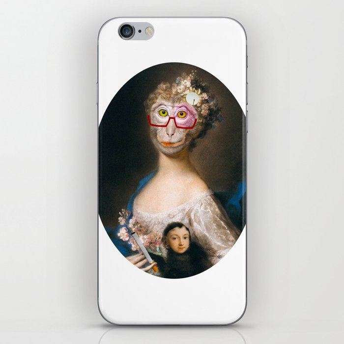 Rosalba Carriera - Young Woman with an Ape? iPhone Skin