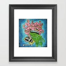 Drunk Beholder Framed Art Print
