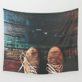 SHOES - CANON - CAMERA - PHOTOGRAPHY Wall Tapestry