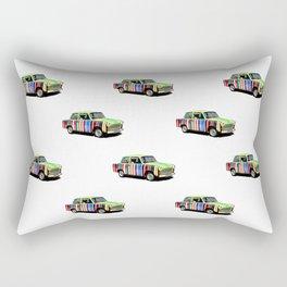 Retro Car Pattern Rectangular Pillow