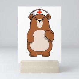 Nurse Care Bear International Nurse Day T-Shirt Mini Art Print