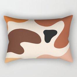 abstract organic shapes earth tones Rectangular Pillow