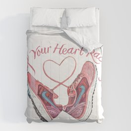 Keep Your Heart Racing Comforters
