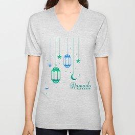 Ramadan Kareem design for kids, Eid Mubarak Banner product Unisex V-Neck