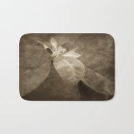 Mottled Red Poinsettia 2 Antiqued Bath Mat