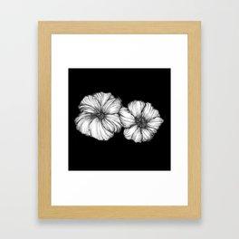 Black Floral Ink II Framed Art Print