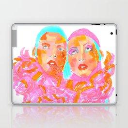 Pink Ladies blue hair pink boa gemini twins Laptop & iPad Skin