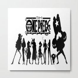 One Piece Mugiwara Pirates 2 Metal Print