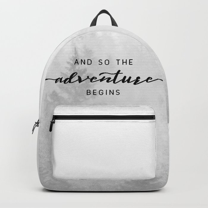 And So The Adventure Begins Backpack