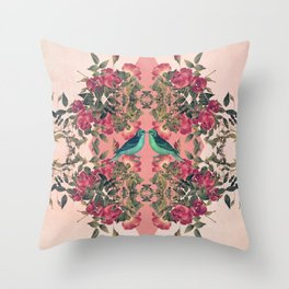 Love Birds II (pink edition) Throw Pillow