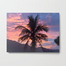 Neon Peach Sunset Metal Print