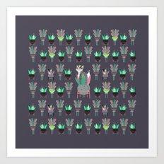 Plants, pots and cats Art Print