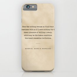 Gabriel Garcia Marquez Quote 02 - Typewriter Quote on Old Paper - Minimalist Literary Print iPhone Case
