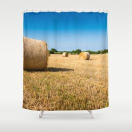 Hay bales in France Shower Curtain