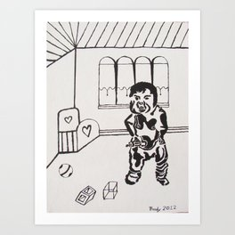 """"""" I Want My Milk """" Art Print"""