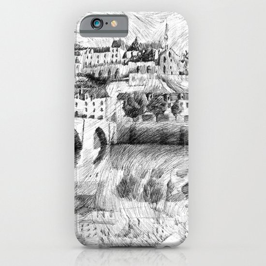 Terrasson village - France drawing iPhone & iPod Case