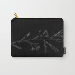 Gum Tree Branch with Blossom by Jess Cargill Carry-All Pouch