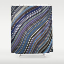 Mild Wavy Lines IV Shower Curtain