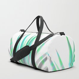 Tropical Allure - Green & Grey on White Duffle Bag