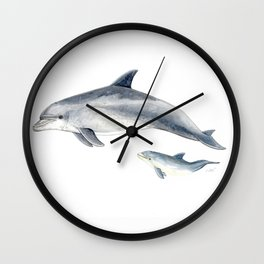 Bottlenose dolphin Wall Clock