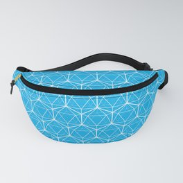 Icosahedron Pattern Bright Blue Fanny Pack