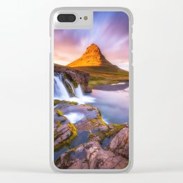 Beautiful Mountain and waterfall Clear iPhone Case