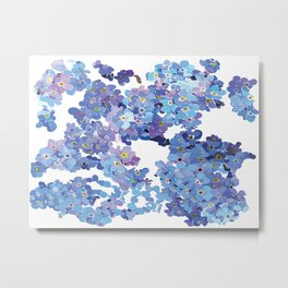 Periwinkle Flowers-Floral Design-Style 3-by Hxlxynxchxle Metal Print