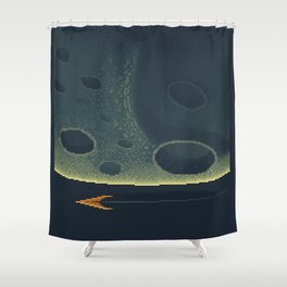 MERCURY Space Tourism Travel Poster Shower Curtain