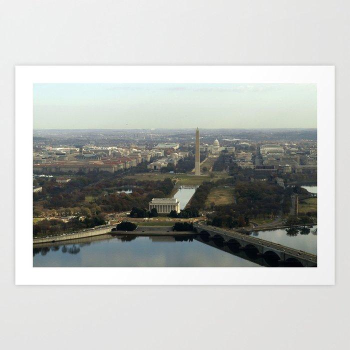 Washington DC Aerial Photograph Kunstdrucke
