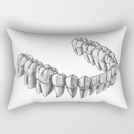 Bottom Teeth Rectangular Pillow
