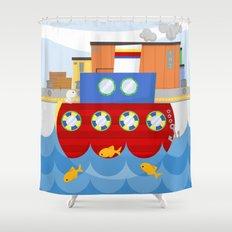 SHIP (AQUATIC VEHICLES) Shower Curtain